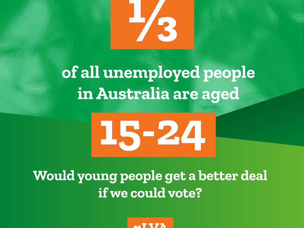 1/3 of all unemployed people in Australia are aged 15-24. Would young people get a better deal if we could vote?
