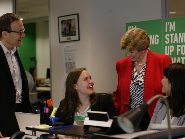 Senator Christine Milne with Adam Bandt