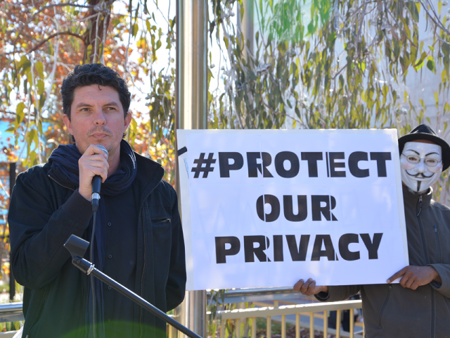 Scott at a ProtectOurPrivacy Rally